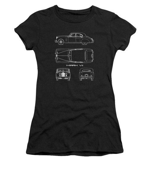 Jaguar Mk Vii Blueprint Women's T-Shirt