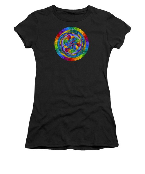 Psychedelic Dragons Rainbow Mandala Women's T-Shirt