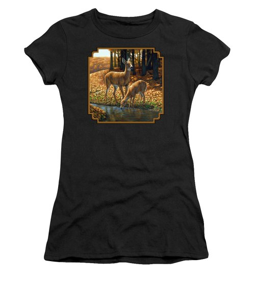 Whitetail Deer - Autumn Innocence 1 Women's T-Shirt