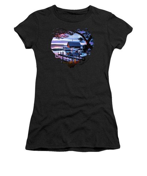 Door County Anderson Dock Sunset Women's T-Shirt