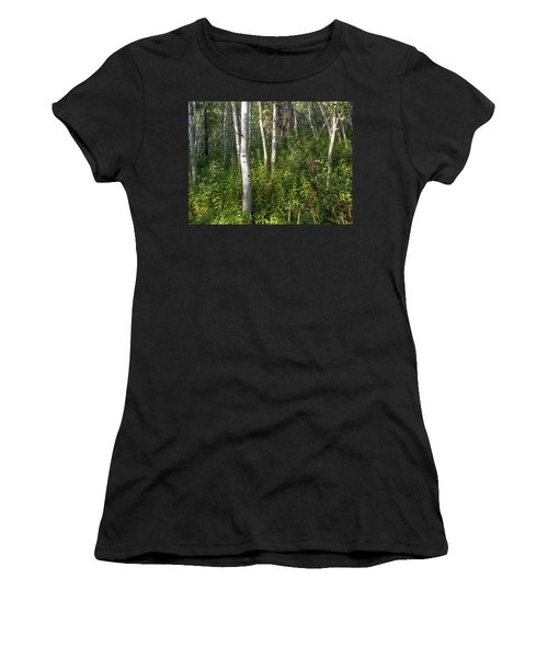 Women's T-Shirt (Athletic Fit) featuring the photograph Aspen Solitude by Lon Dittrick