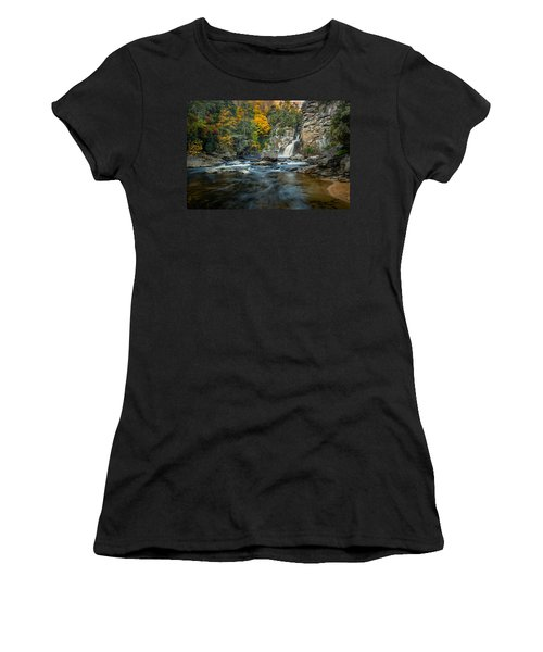 Autumn At Linville Falls - Linville Gorge Blue Ridge Parkway Women's T-Shirt