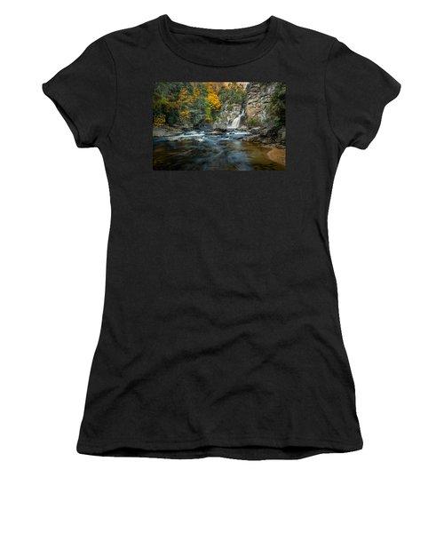 Autumn At Linville Falls - Linville Gorge Blue Ridge Parkway Women's T-Shirt