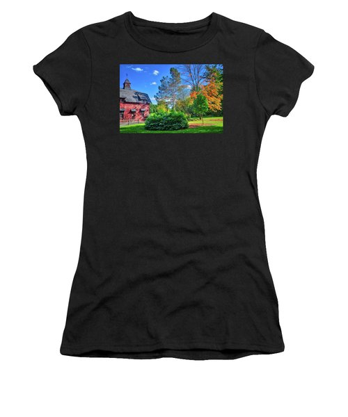 Women's T-Shirt (Athletic Fit) featuring the photograph Autumn Days On Campus At Cornell University - Ithaca, New York by Lynn Bauer