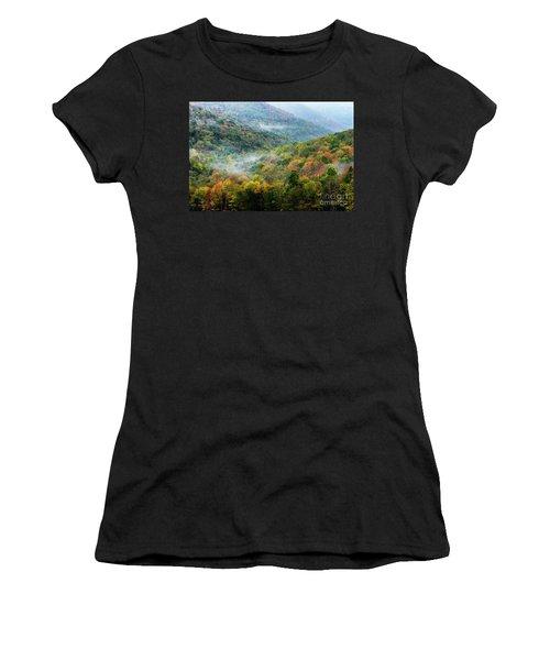 Autumn Hillsides With Mist Women's T-Shirt