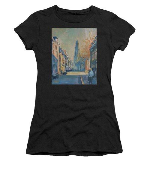Autumn In The Lange Nieuwstraat Utrecht Women's T-Shirt