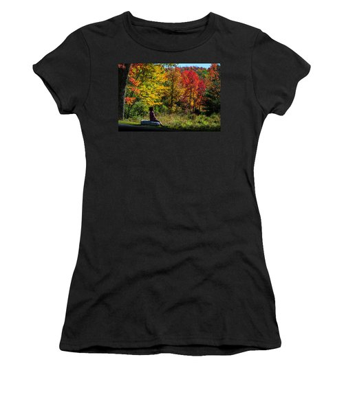 Autumn Leaves In The Catskill Mountains Women's T-Shirt