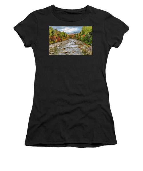 Women's T-Shirt featuring the photograph Autumn On The Kanc. Nh by Michael Hubley