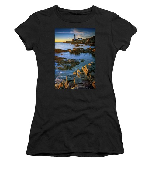 Women's T-Shirt (Athletic Fit) featuring the photograph Autumn Tranquility At Portland Head by Rick Berk