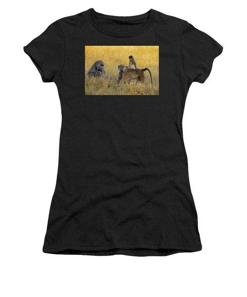 Baboons In Botswana Women's T-Shirt
