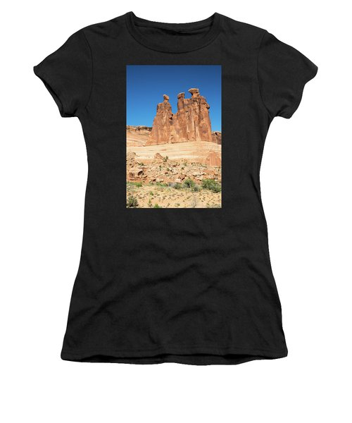 Balanced Rocks In Arches Women's T-Shirt