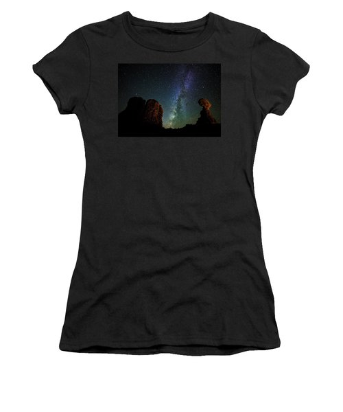 Women's T-Shirt (Athletic Fit) featuring the photograph Balancing Act by Andy Crawford