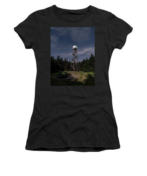 Balsam Lake Mountain Firetower Moonlight Women's T-Shirt