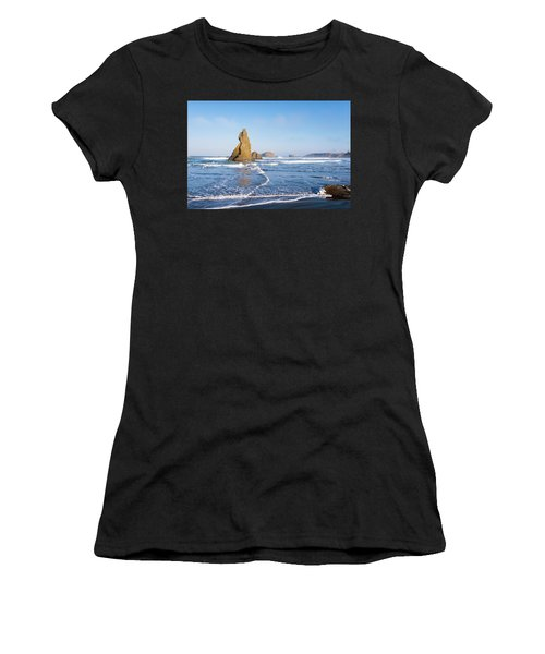 Women's T-Shirt (Athletic Fit) featuring the photograph Bandon Oregon 103018 by Rospotte Photography