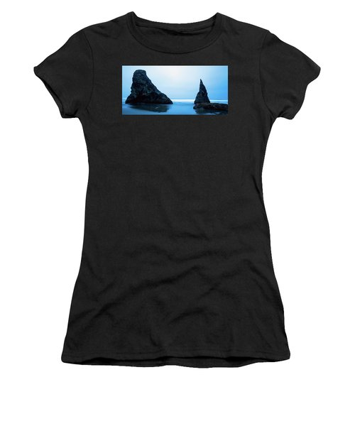 Women's T-Shirt (Athletic Fit) featuring the photograph Bandon Oregon Blue 101918 by Rospotte Photography
