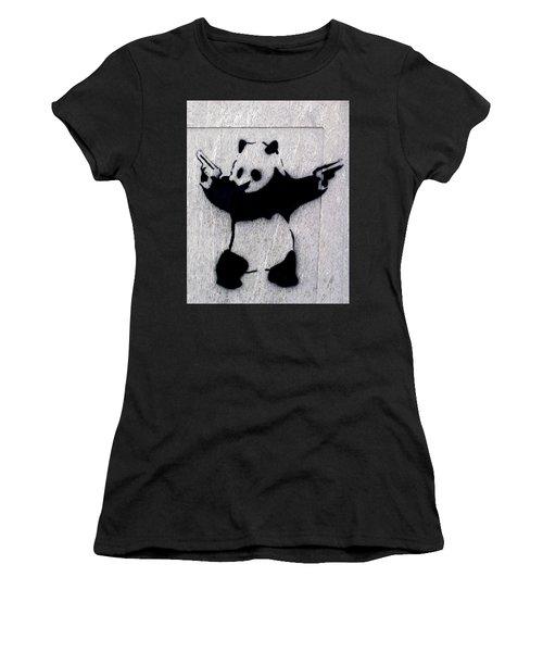 Banksy Panda Women's T-Shirt