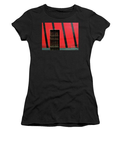 Women's T-Shirt featuring the photograph Bars And Stripes by Rick Locke