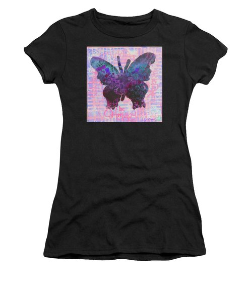 Be Happy Butterfly Women's T-Shirt