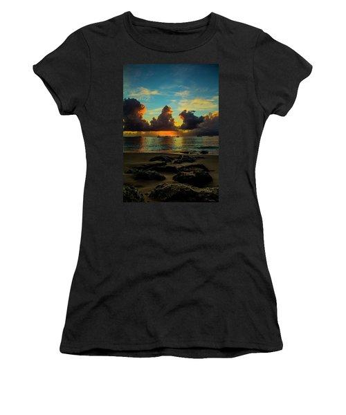 Beach At Sunset 2 Women's T-Shirt