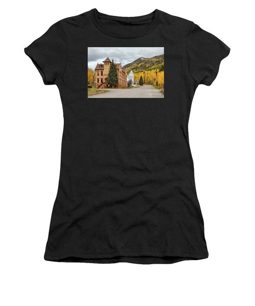 Women's T-Shirt (Athletic Fit) featuring the photograph Beautiful Small Town Rico Colorado by James BO Insogna