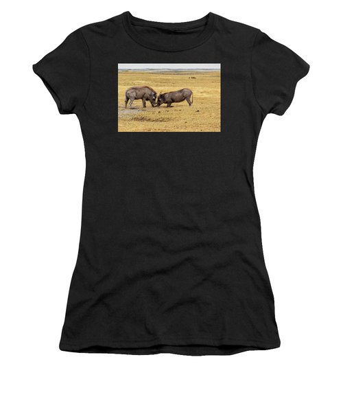 Women's T-Shirt featuring the photograph Beauty On The Hoof, The Warthog by Kay Brewer