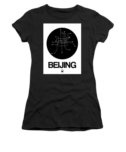 Beijing Black Subway Map Women's T-Shirt