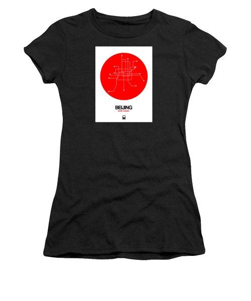 Beijing Red Subway Map Women's T-Shirt