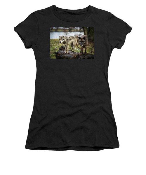 Black And White Women's T-Shirt