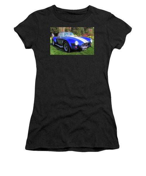 Blue 427 Shelby Cobra In The Garden Women's T-Shirt