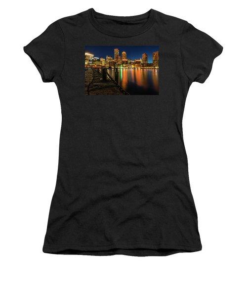 Blue Hour At Boston's Fan Pier Women's T-Shirt
