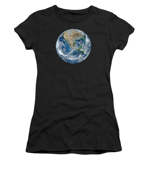 Blue Marble Our Earth From Space Women's T-Shirt