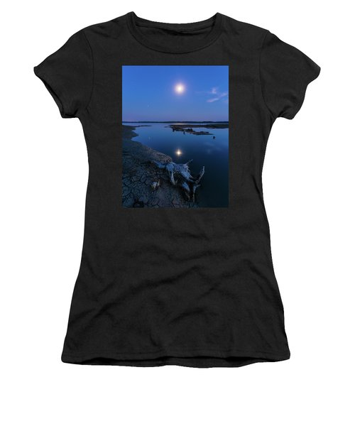 Blue Moonlight Women's T-Shirt (Athletic Fit)