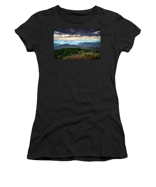 Blue Ridge Mountains Asheville Nc Scenic Light Rays Landscape Photography Women's T-Shirt