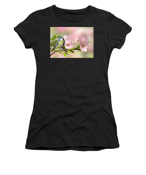 Blue Tit On Apple Blossom Women's T-Shirt