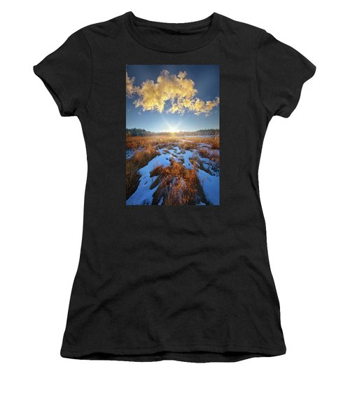 Women's T-Shirt featuring the photograph Bound Within The Silence by Phil Koch