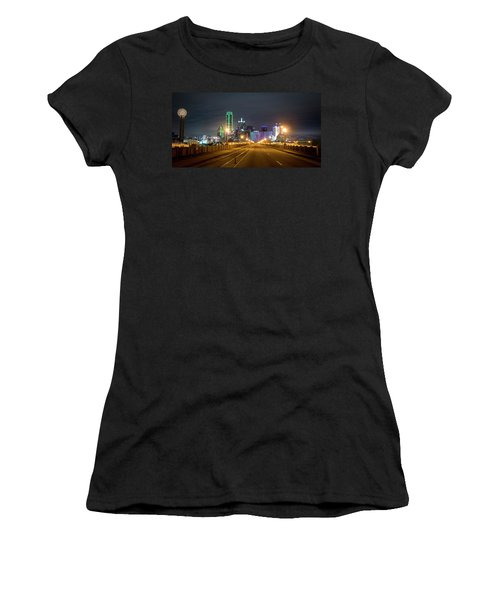 Women's T-Shirt (Athletic Fit) featuring the photograph Bridge To Dallas by David Morefield