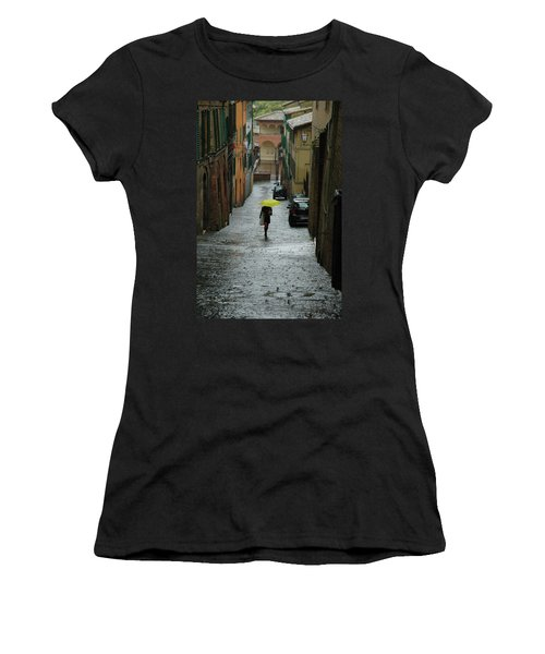 Women's T-Shirt (Athletic Fit) featuring the photograph Bright Spot In The Rain by Mark Duehmig