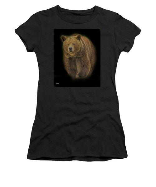 Brown Bear In Darkness Women's T-Shirt