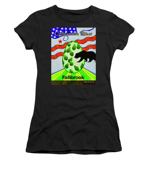Women's T-Shirt featuring the painting California's Finest by Mary Scott