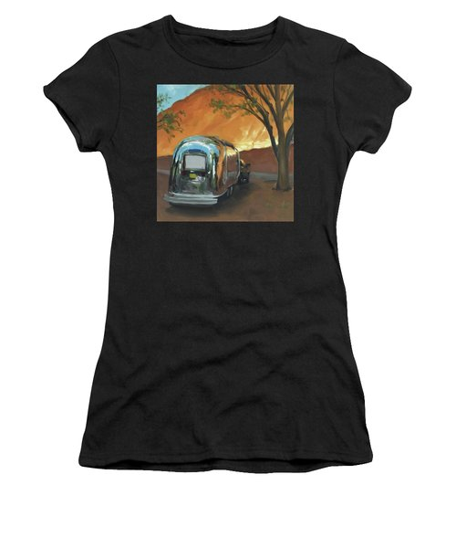 Camping At The Red Rocks Women's T-Shirt