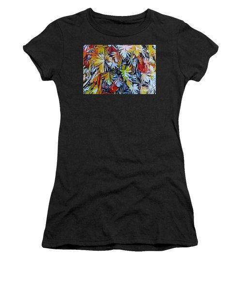 Cascading Leaves #2,  Women's T-Shirt