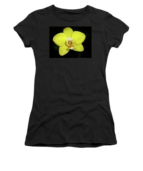 Caution Yellow Orchid Women's T-Shirt
