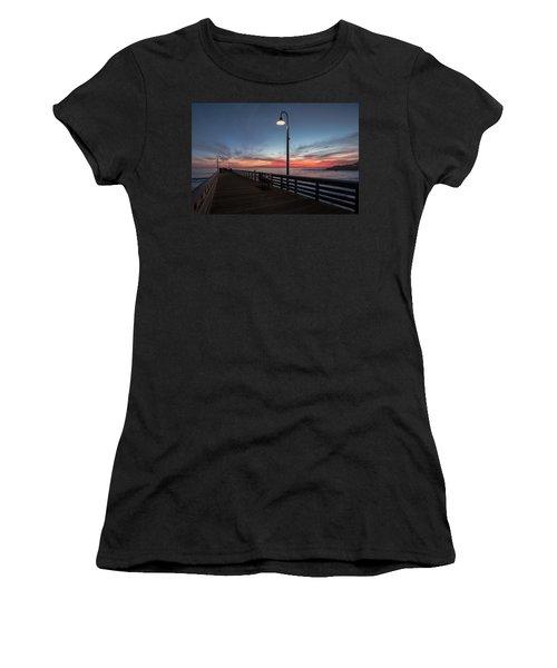 Cayucos Pier Sunset Women's T-Shirt
