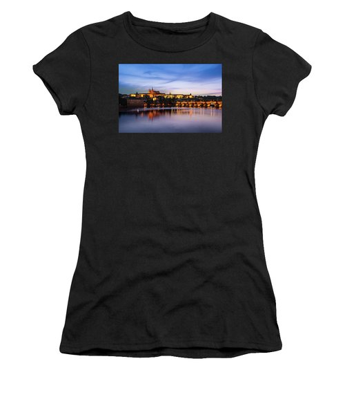 Charles Bridge Women's T-Shirt (Athletic Fit)
