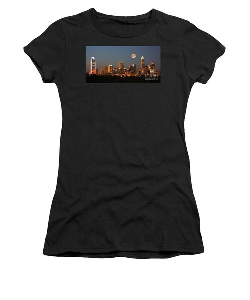 Charlotte City Skyline At Sunset Women's T-Shirt