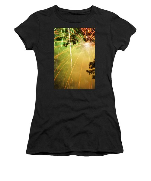 Yellow Fireworks Women's T-Shirt