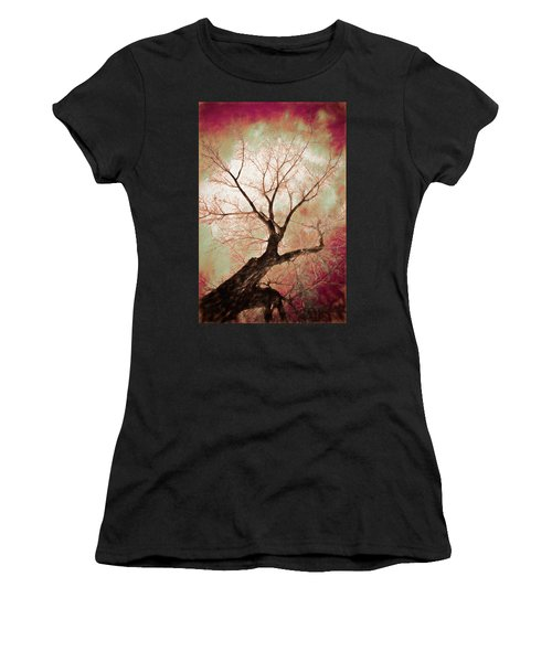 Women's T-Shirt (Athletic Fit) featuring the photograph Climbing Red Fiery by James BO Insogna