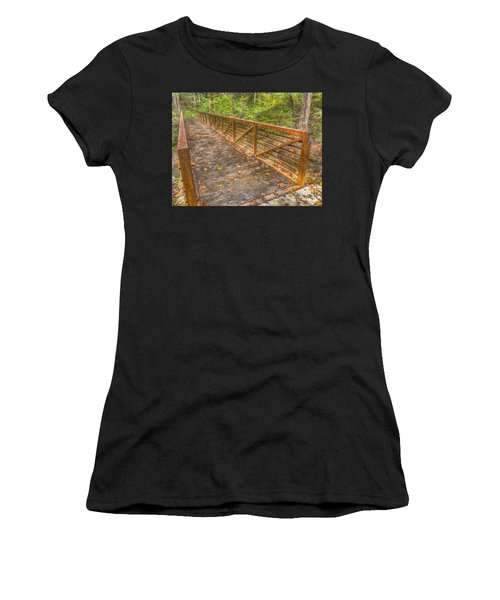 Close Up Of Bridge At Pine Quarry Park Women's T-Shirt (Athletic Fit)