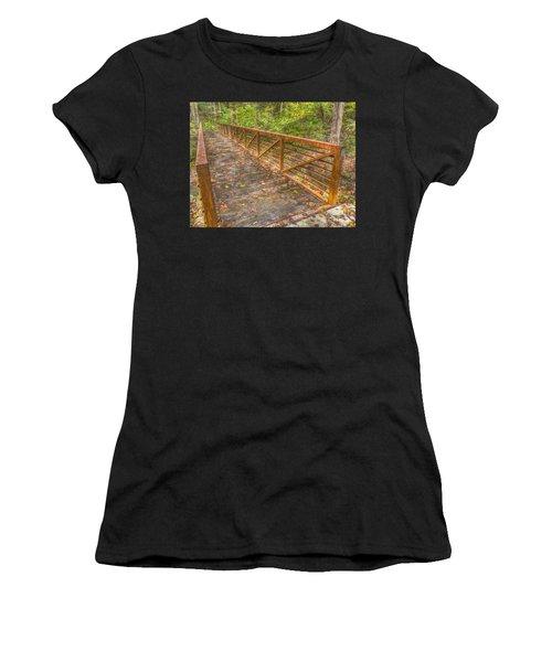 Close Up Of Bridge At Pine Quarry Park Women's T-Shirt