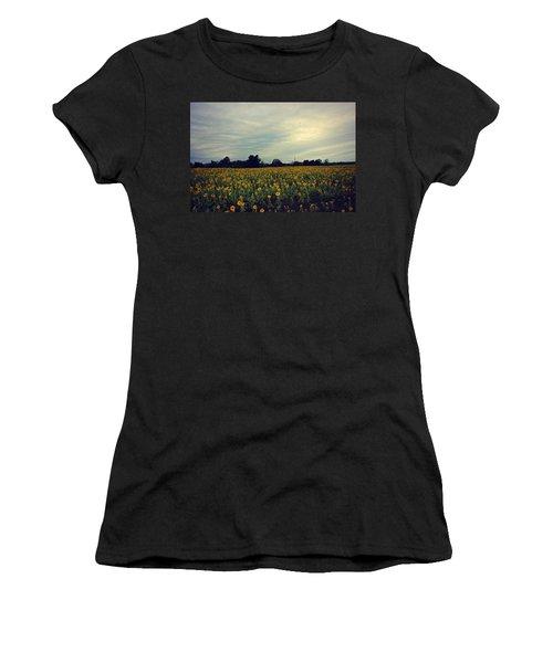 Cloudy Sunflowers Women's T-Shirt